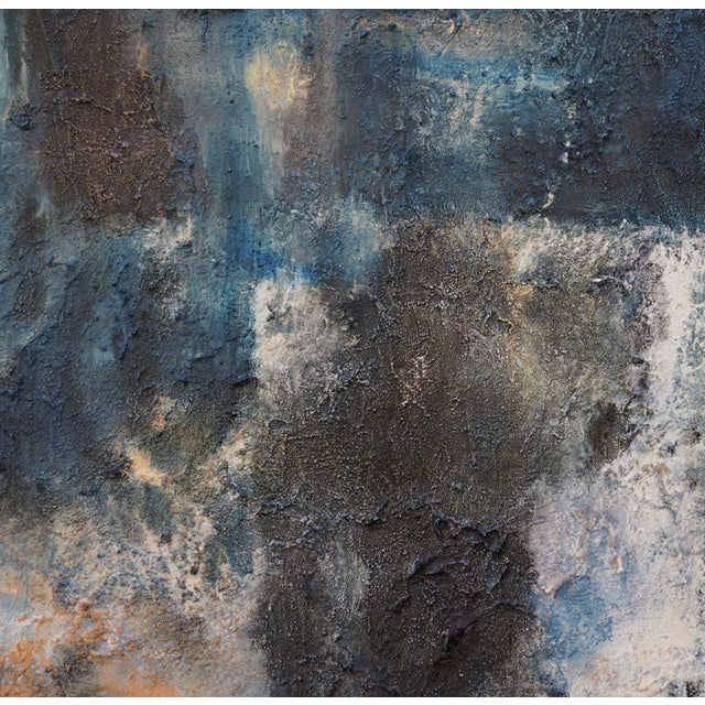 """Laurie MacMillan """"Night Walk"""" Contemporary Abstract Acrylic Painting by Laurie MacMillan, Framed For Sale - Image 4 of 7"""