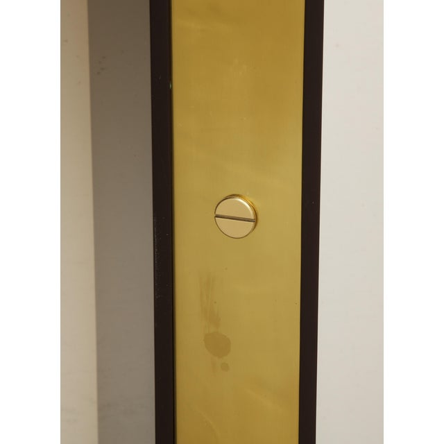 Brown Lacquered Console with Brass Accents For Sale - Image 4 of 9