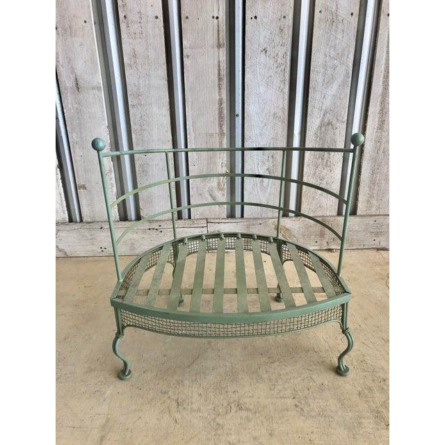 "Midcentury garden lounge chair by Woodard. Seat h 12.5"""