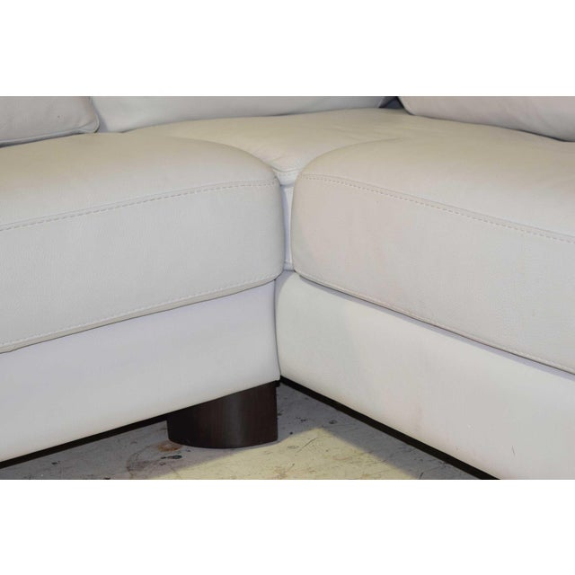 Pale gray leather sofa by Max Divani. Great quality, great condition. Made in Italy, purchased sometime in 2000's. Very...