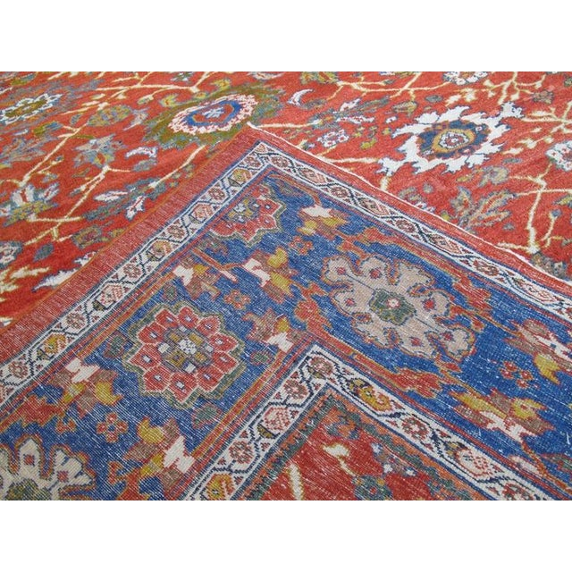 Textile Fantastic Antique Sultanabad Carpet For Sale - Image 7 of 10