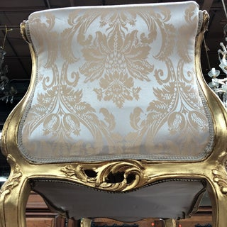 Damask Gilded Rococo Shell Details Bench Preview