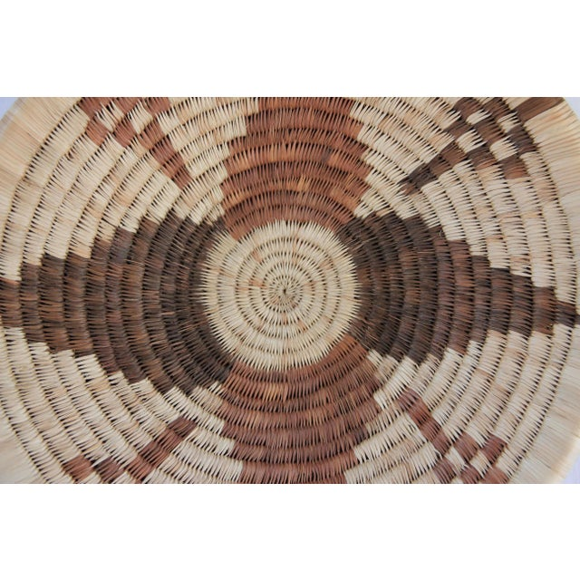 Handwoven African Shallow Basket - Image 3 of 4