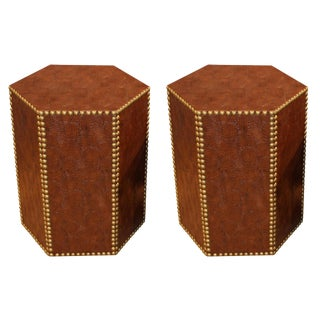 Contemporary Hexagonal Accent Tables - a Pair