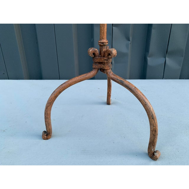 Traditional Brown Iron Candelabra For Sale - Image 3 of 5