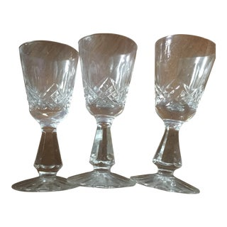 1960s Waterford Lismore Liquor Glasses - Set of 3 For Sale