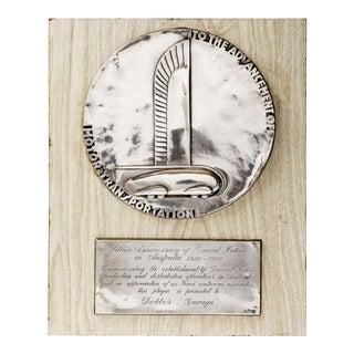Art Deco Norman Bel Geddes for General Motors Machine Age Dealer Plaque