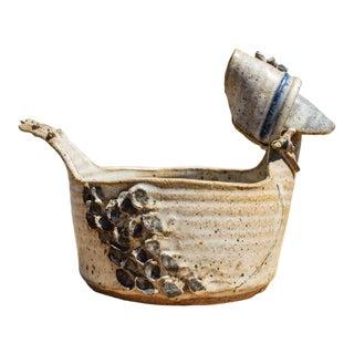 Vintage Duck Planter With Bonnet For Sale