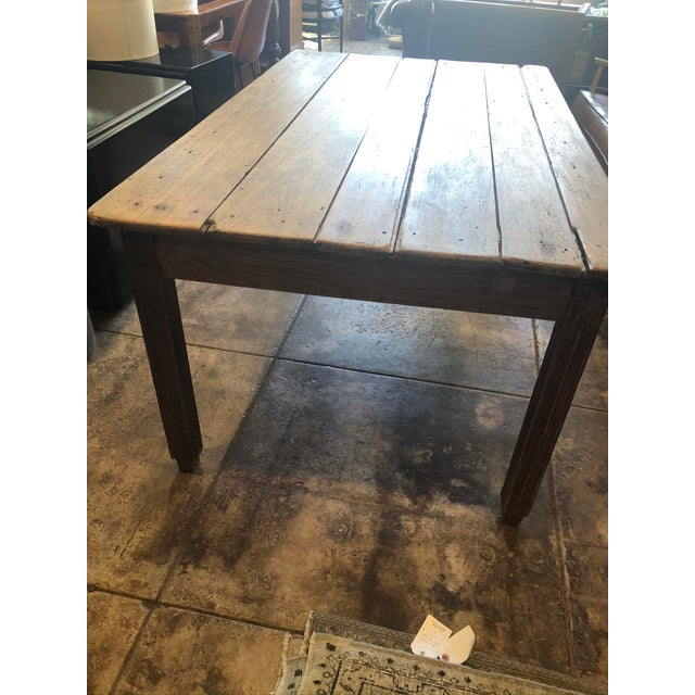 Mid 20th Century Antique French Farm Table For Sale - Image 5 of 12