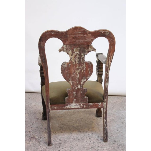 Majestic Odd Fellows Carved and Painted Armchair - Image 4 of 11