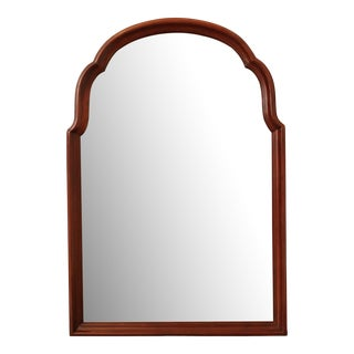 Thomasville Cherry Frame Beveled Wall Mirror For Sale