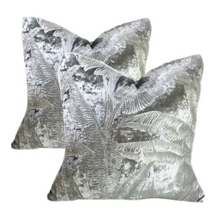 Kravet Couture Cleopatra Blue Ice Down Pillow - a Pair For Sale