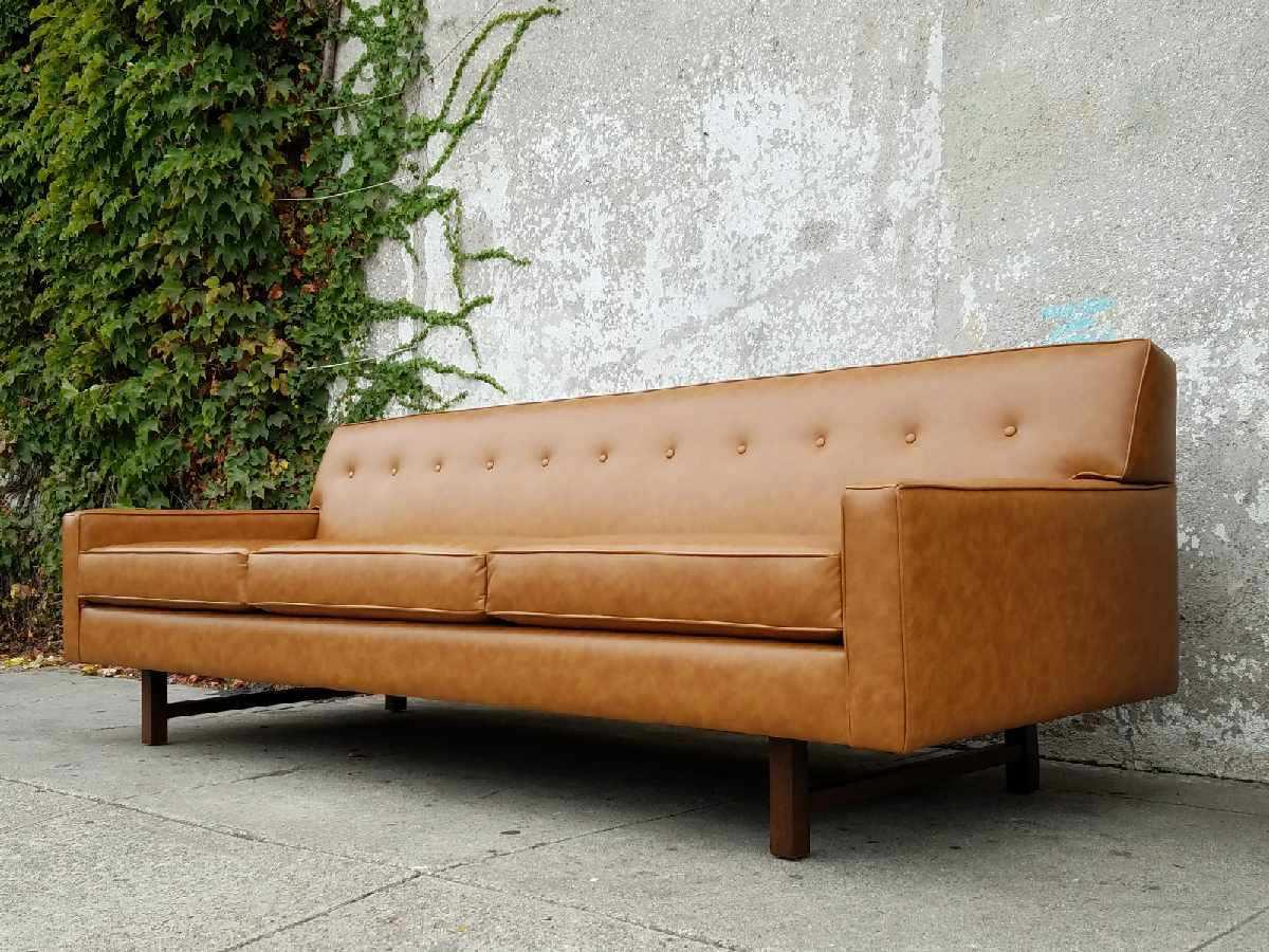 Butterscotch Faux Leather Lucy Sofa   Image 4 Of 6