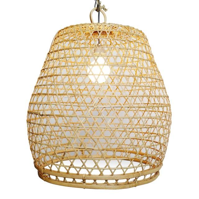 Flat Top Fish Basket Lantern Large For Sale - Image 4 of 4