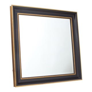 Pottery Barn Black and Gold Wall Mirror For Sale