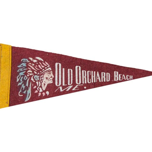 Vintage Old Orchard Beach Felt Flag Banner - Image 2 of 2