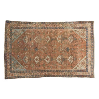 Vintage Distressed Malayer Rug - 4' X 6'1""