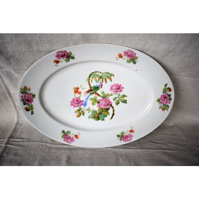 Ceramic 1930s Vintage Victoria China Parrot Platter For Sale - Image 7 of 7