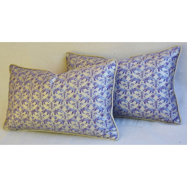 Designer Italian Mariano Fortuny Richelieu Feather/Down Pillows - a Pair - Image 11 of 11