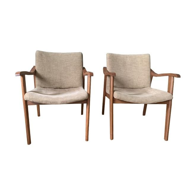 Wood Mid-Century Modern Chairs - a Pair For Sale - Image 7 of 7