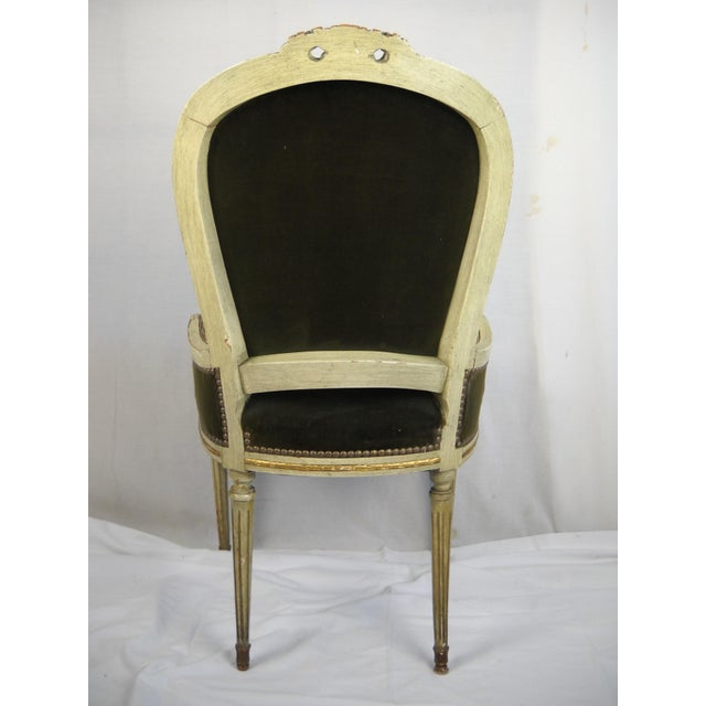 Coral French Painted Gilt Dining Chairs - Set of 6 For Sale - Image 7 of 11