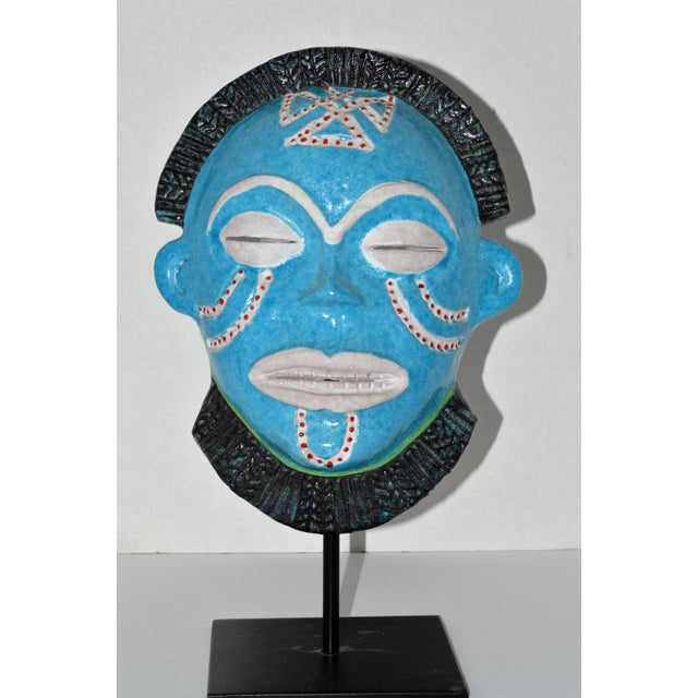 Neiman Marcus Italian Clay African Tribal Mask - Image 2 of 6