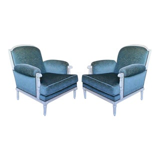 Pair of French 1940s Armchairs, Attributed to Maison Jansen For Sale