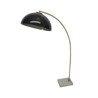Mid-Century Modern Marble & Brass Arc Lamp