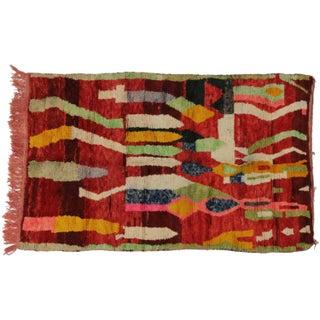 Vintage Berber Moroccan Tribal Rug - 5′1″ × 8′1″ For Sale