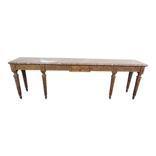 Jansen Style Marble Top Console Table
