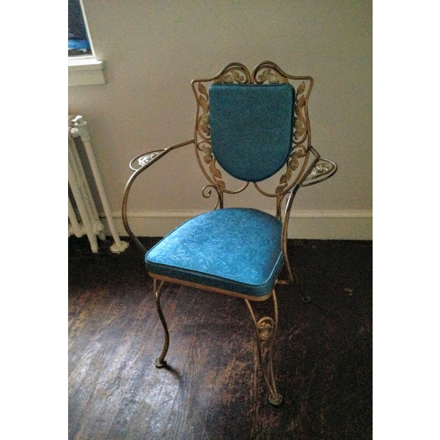 Mid Century Hollywood Regency Accent Chair - Image 2 of 11