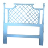Image of Vintage Hollywood Regency Painted Faux Bamboo Twin Headboard For Sale