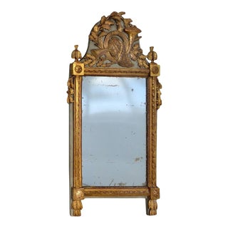 19th Century Swedish Carved Giltwood Mirror For Sale