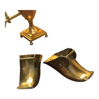 18th Century Antique Brass Spanish Colonial Stirrups - a Pair For Sale