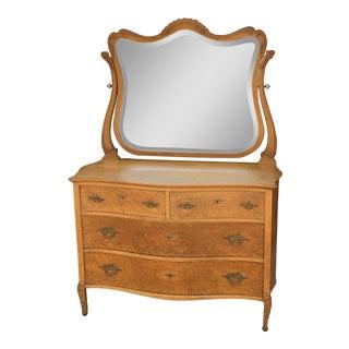 1920s Art Nouveau Dresser With Tilting Mirror For Sale