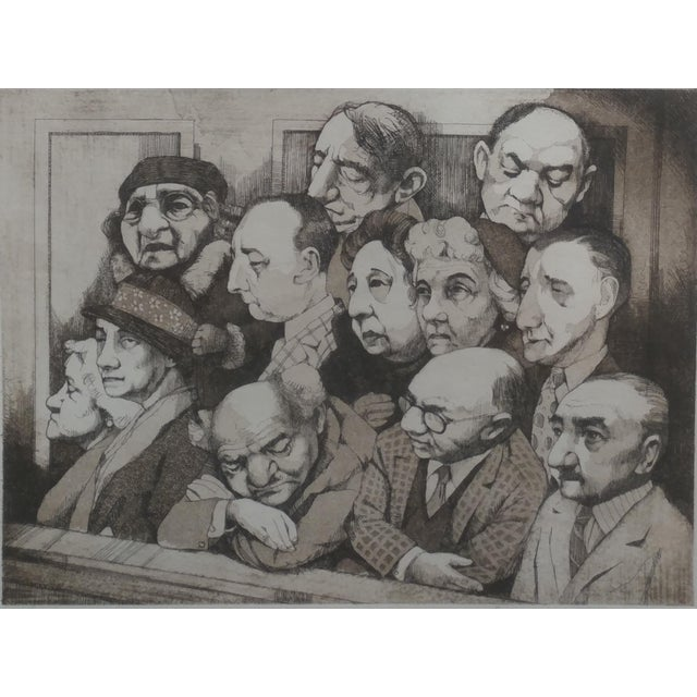 Realism Charles Bragg- Sequestered Jury - Original Hand Signed Etching For Sale - Image 3 of 8