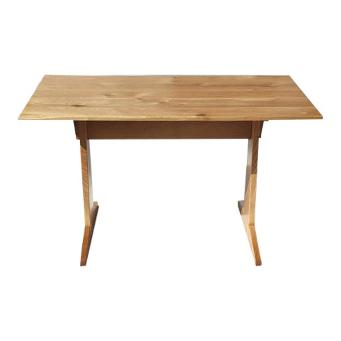 Japanese Style Trestle Table & Bench - A Pair - Image 7 of 11