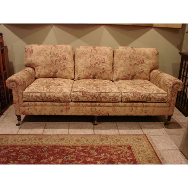 Textile George Smith Scroll Arm Signature Sofa For Sale - Image 7 of 7