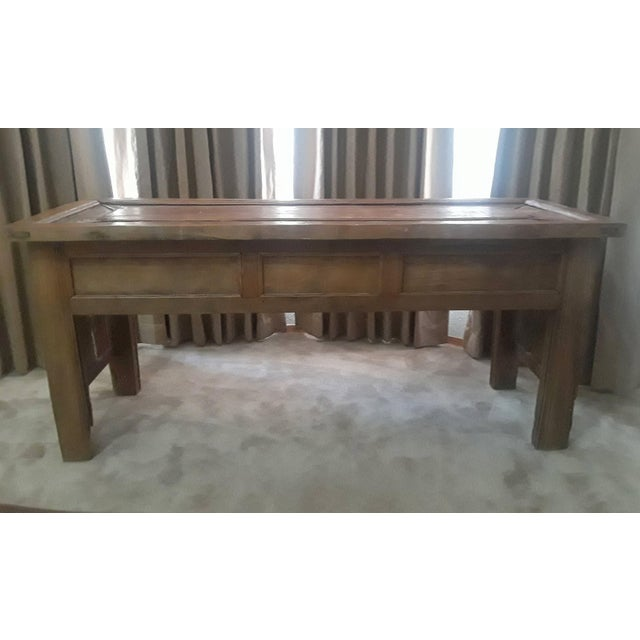 Vintage Carved Teak Console Table For Sale In Santa Fe - Image 6 of 8