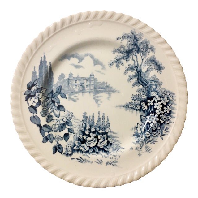 English Style Toile Pattern Trinket Dish - Image 1 of 3
