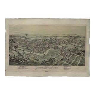 Punxsutawney, Pennsylvania - Original Lithograph For Sale