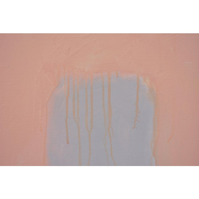 """""""Peachy"""" Large Contemporary Abstract Triptych Painting by Stephen Remick For Sale - Image 9 of 12"""