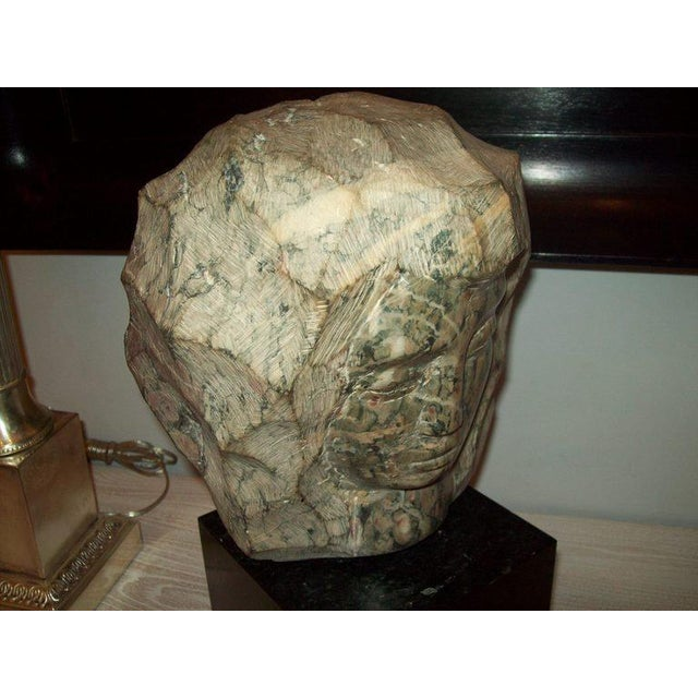 French Modernist Marble Sculpture on Granite Base For Sale - Image 3 of 6