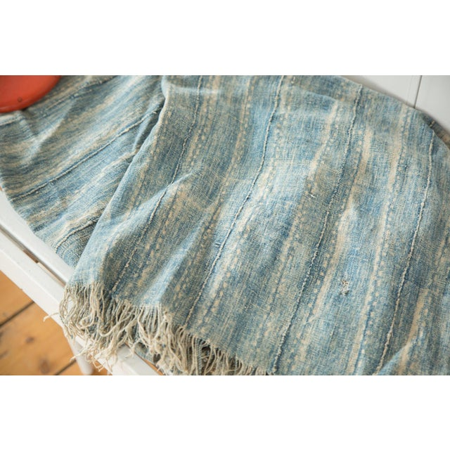 """African Vintage African Textile Throw - 3'2"""" X 6'9"""" For Sale - Image 3 of 7"""