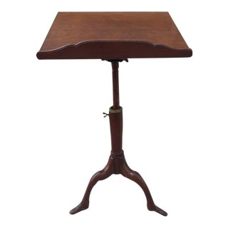 Georgian Mahogany Adjustable Dictionary / Music Stand With Carved Shoe Feet For Sale