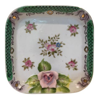 Hand-Painted China Vide-Poche/Coin Dish For Sale