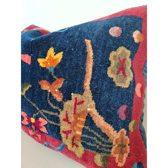 1920s Chinese Art Deco Nichols Rug Custom Pillow For Sale - Image 12 of 13