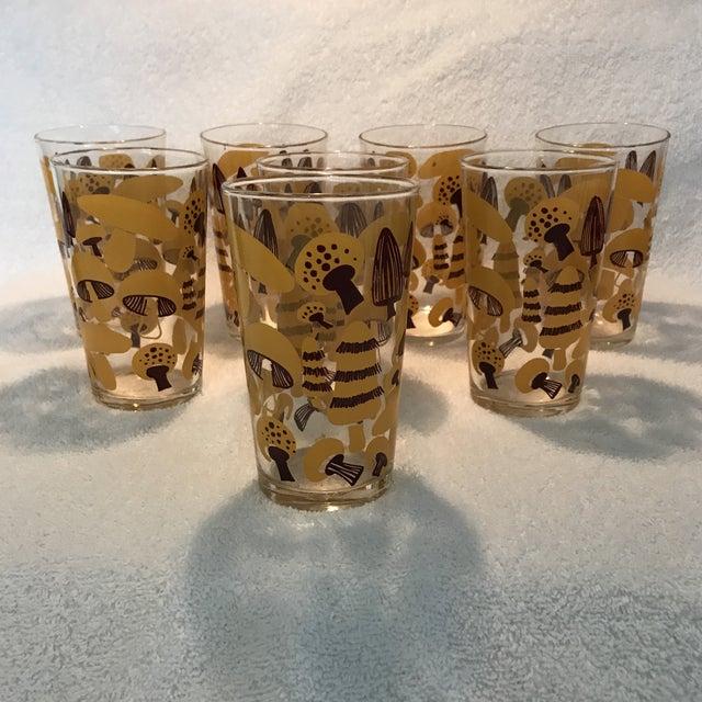 Mid-Century Modern Mushroom Glasses - Set of 8 - Image 9 of 10