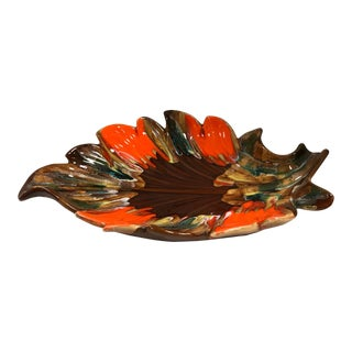 Mid 20th Century French Leaf Bowl For Sale