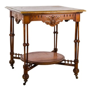 19th Century Aesthetic Movement Carved Occasional Side Table For Sale